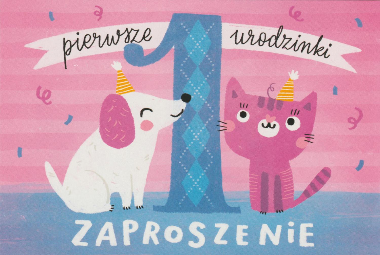 Zaproszenia na 1 urodziny - Roczek / Z.C6-614