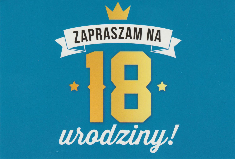 Zaproszenia na 18 urodziny / Z.C6-551