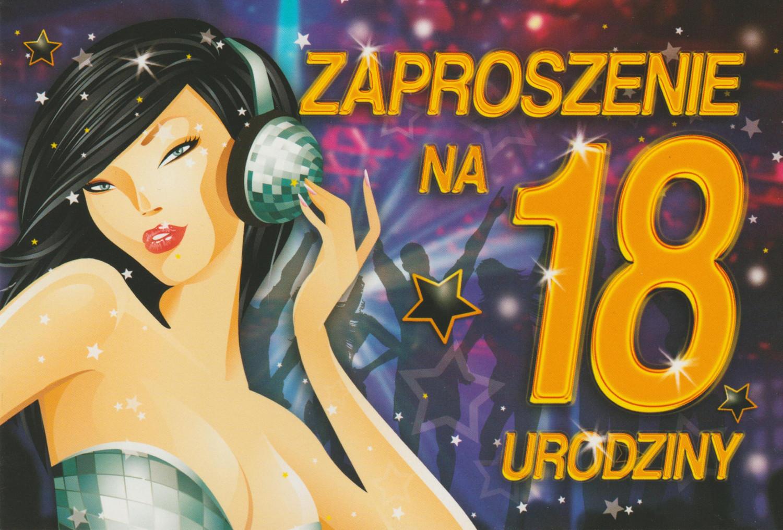 Zaproszenia na 18 urodziny / Z.C6-530