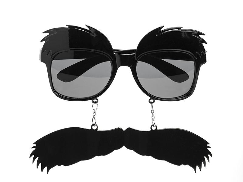 Okulary z wąsami i brwiami