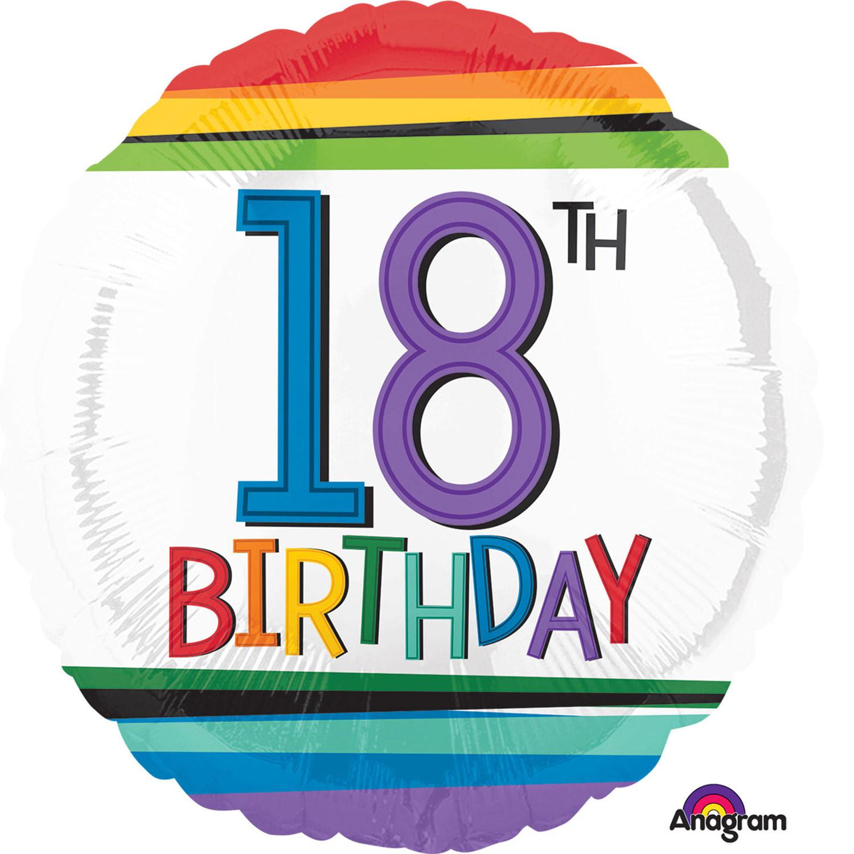 """Balon na urodziny foliowy na """"18 urodziny"""" / 344201"""