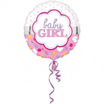 """Balon na Narodziny dziecka foliowy """"Baby Girl"""" / 43 cm"""