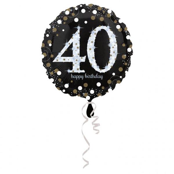 """Balon foliowy na """"40 urodziny"""" / 43 cm"""