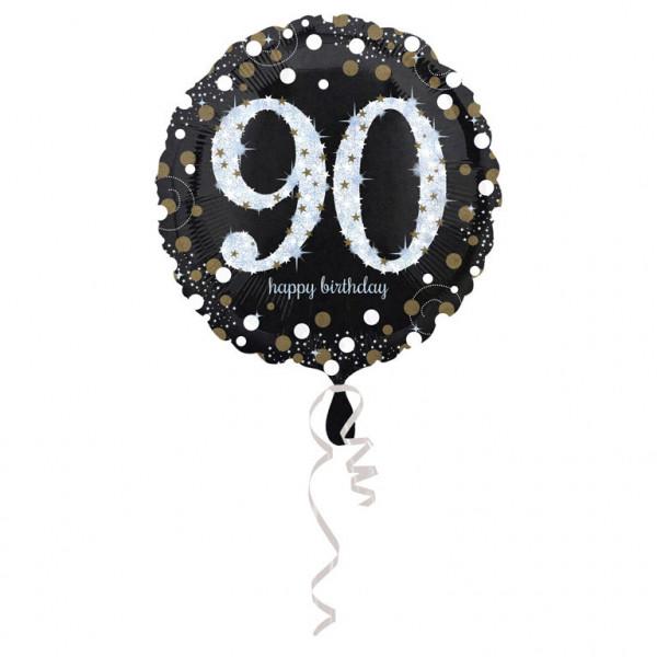 """Balon foliowy na """"90 urodziny"""" / 43 cm"""