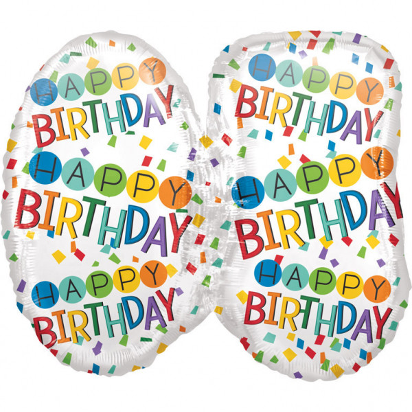 """Balon foliowy na """"60 urodziny"""" / 63x55 cm"""