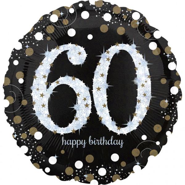 """Balon foliowy Jumbo na """"60 urodziny"""" / 71 cm"""