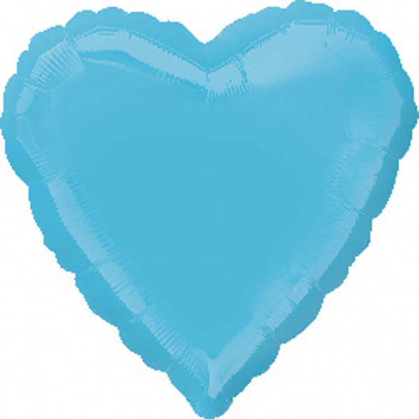Balon foliowy - Serce turkus / 43 cm
