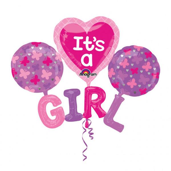"""Multi balon na Narodziny dziecka foliowy """"It`s a Girl"""" / 129x101 cm"""