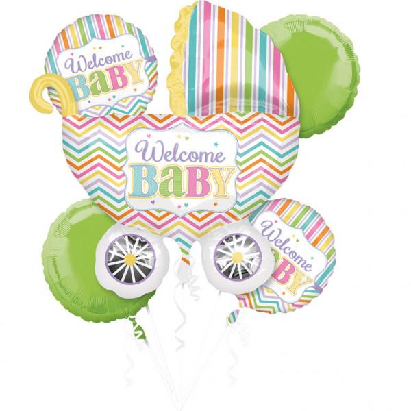 """Zestaw balonów na Narodziny dziecka """"Welcome Baby"""""""