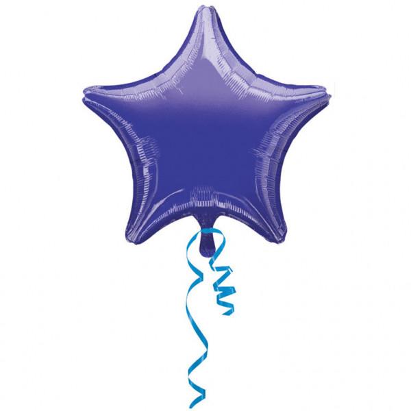 Balon foliowy metalizowany - Gwiazda fioletowa / 48 cm