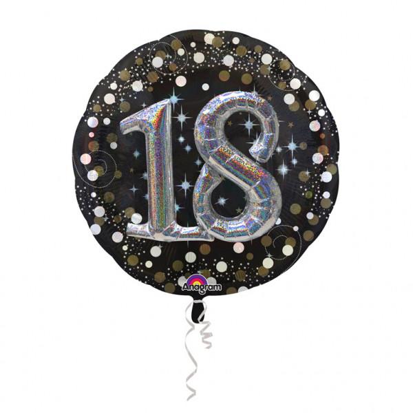 """Balon foliowy Multi na """"18 urodziny"""" / 81 cm"""