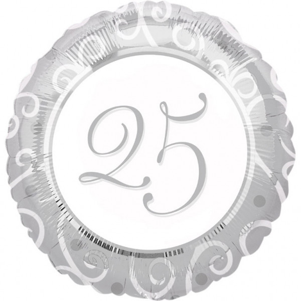 """Balon foliowy okrągły, """"25"""""""