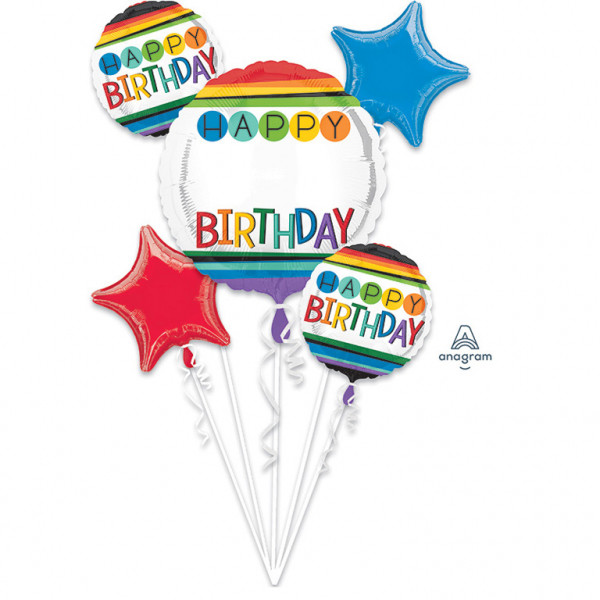 Bukiet 5 balonów foliowych na urodziny