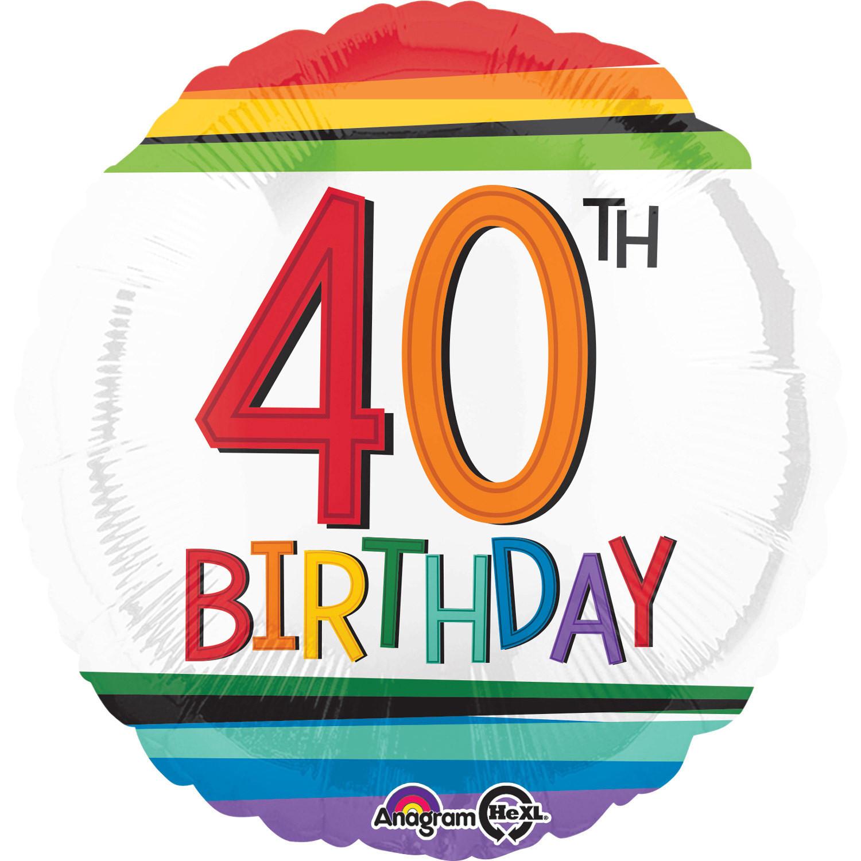 """Balon foliowy na """"40 urodziny"""" / 3443501"""