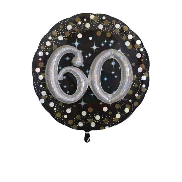 """Balon foliowy Multi na """"60 urodziny"""" / 81 cm"""