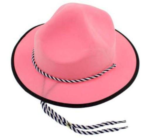 Kapelusz kowbojski - PVC różowy