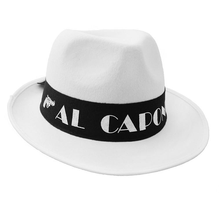 """Kapelusz """"Al Capone"""" - biały"""
