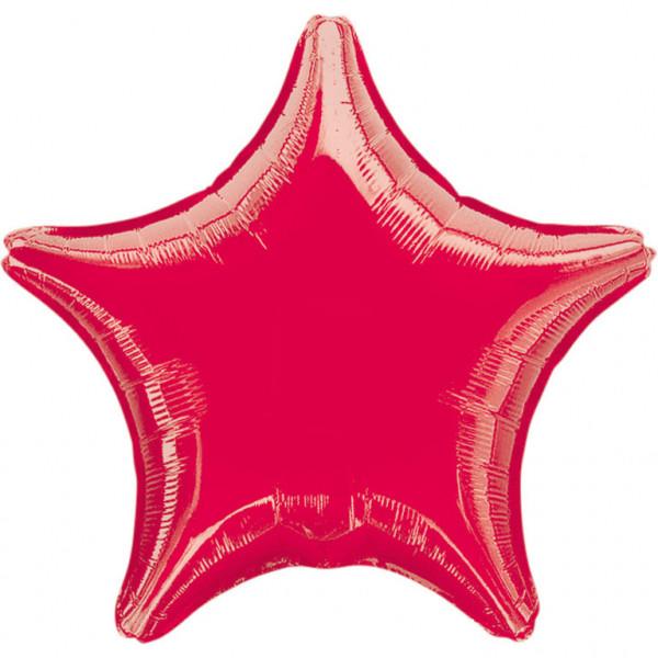 Balon foliowy metalizowany - Gwiazda czerwona / 48 cm