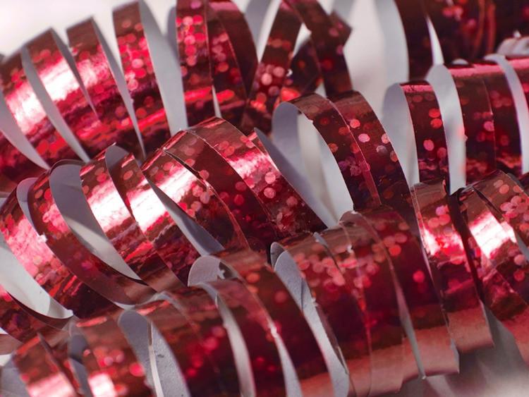 Serpentyna holograficzna czerwona / SHN-007