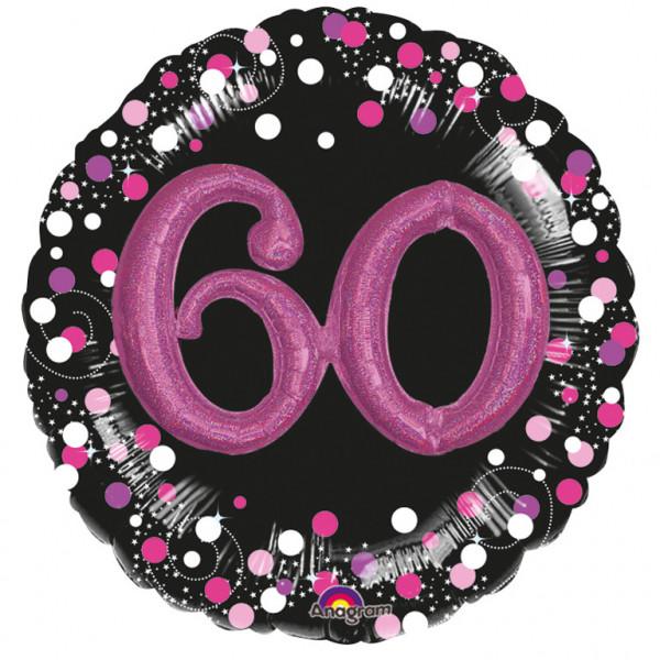 """Balon foliowy Multi na """"60 urodziny"""" / 81 cm - 3597901"""