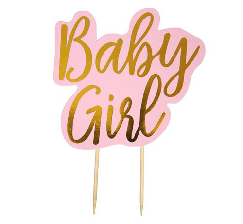 """Ozdoba na tort na Narodziny dziecka """"Baby Girl"""""""