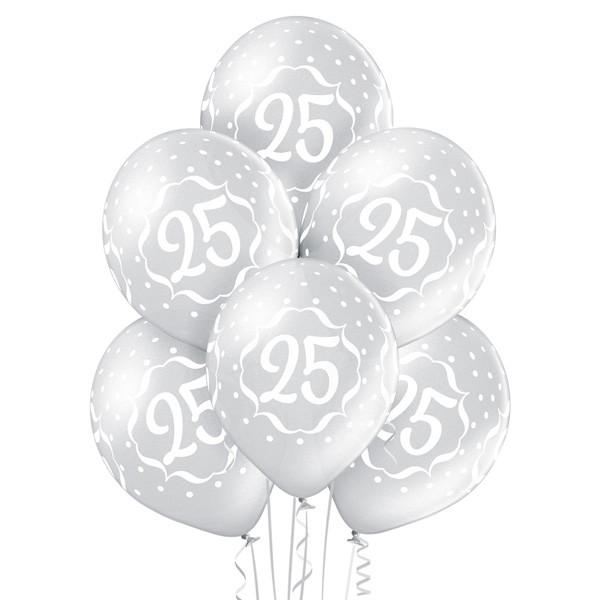 Balony lateksowe na 25 Rocznicę Ślubu