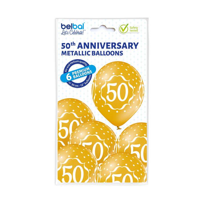 Balony lateksowe na 50 Rocznicę Ślubu