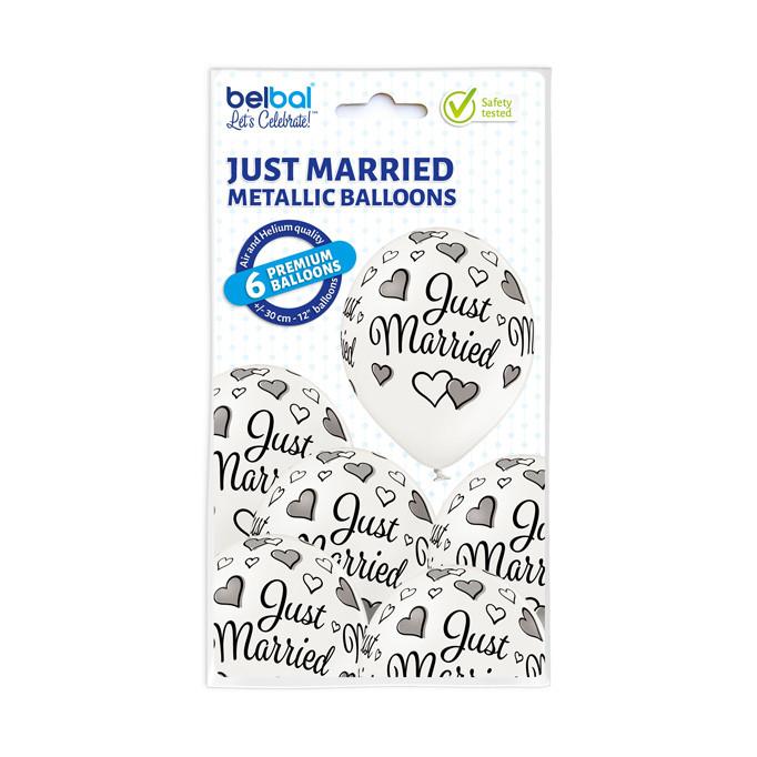 """Balony lateksowe """"Just Married"""" / 5000294"""