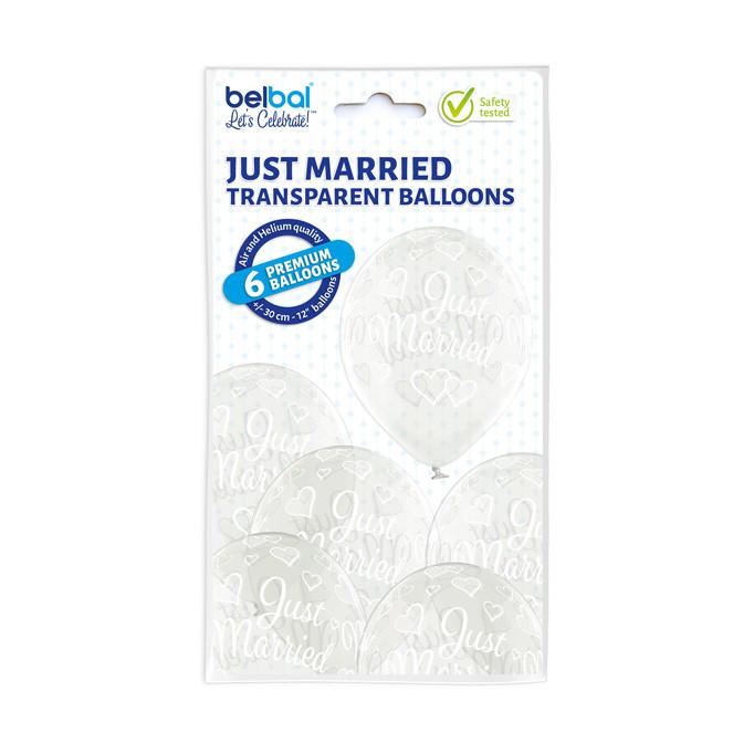 """Balony lateksowe """"Just Married"""" / 5000292"""