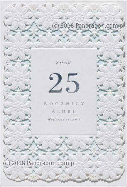 """Kartka na rocznicę ślubu """"25 Rocznica Ślubu"""" / HM100-691"""