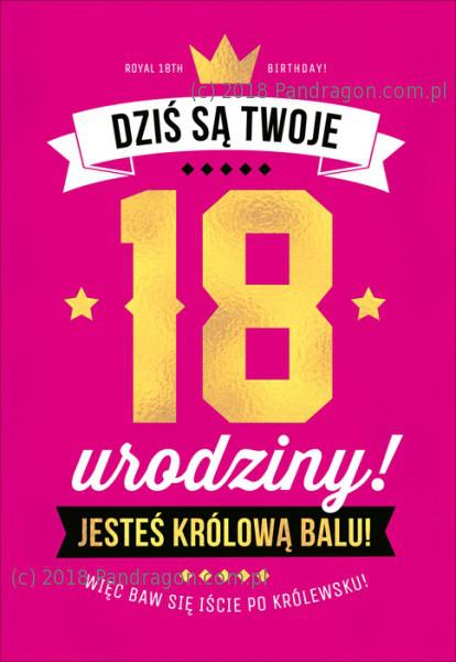 Ogromna kartka urodzinowa na 18 urodziny  / K.MEGA-95