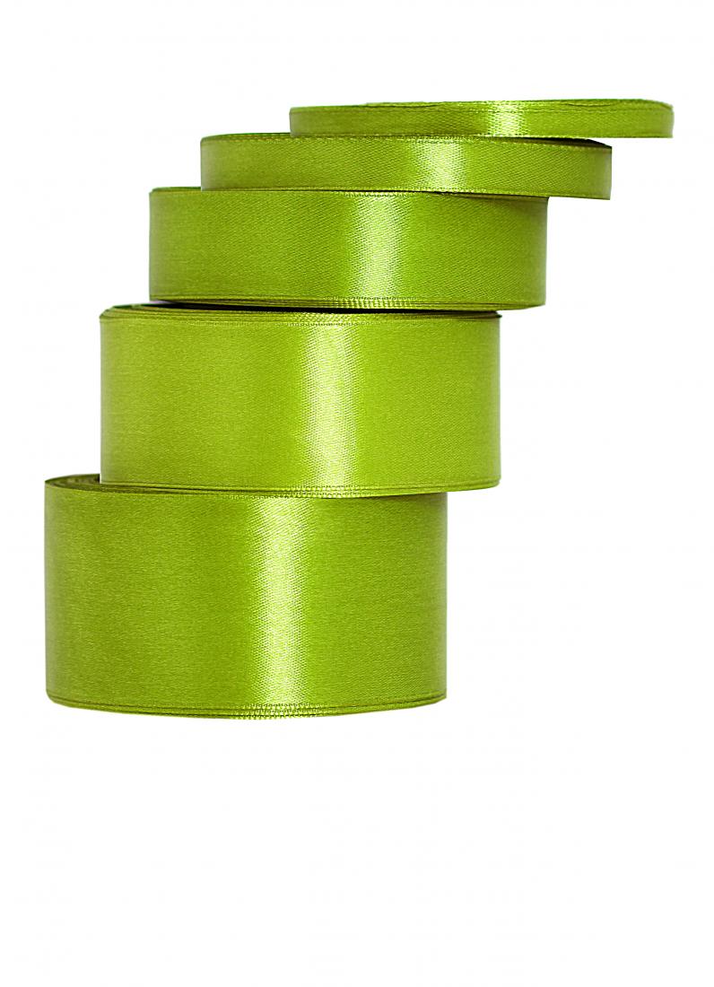 Wstążka satynowa 25mm/32mb oliwka