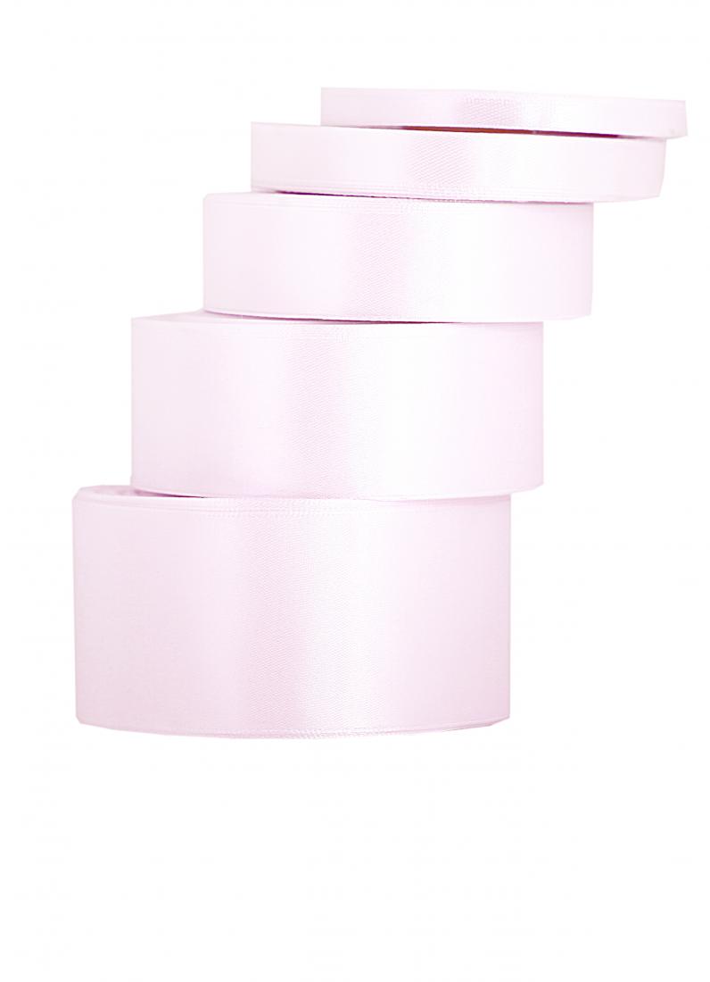 Wstążka satynowa pudrowy róż / 38mmx32m