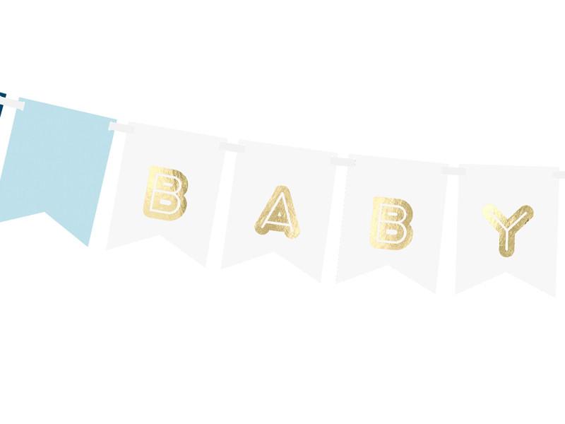 """Girlanda na przywitanie chłopca """"Baby Boy"""" / GRL61"""