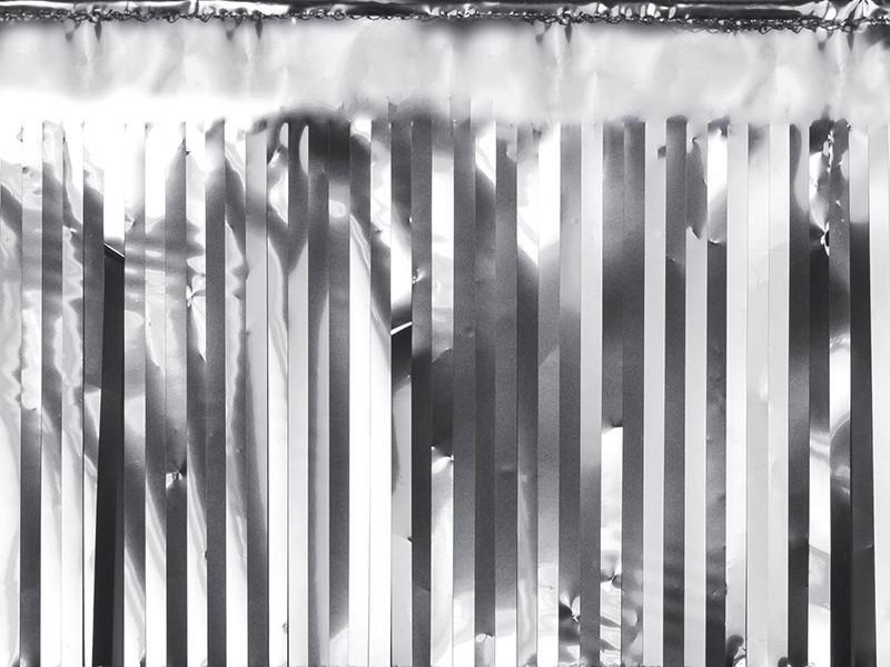 Dekoracja - foliowa kurtyna Party, srebrna / 18,5x400 cm