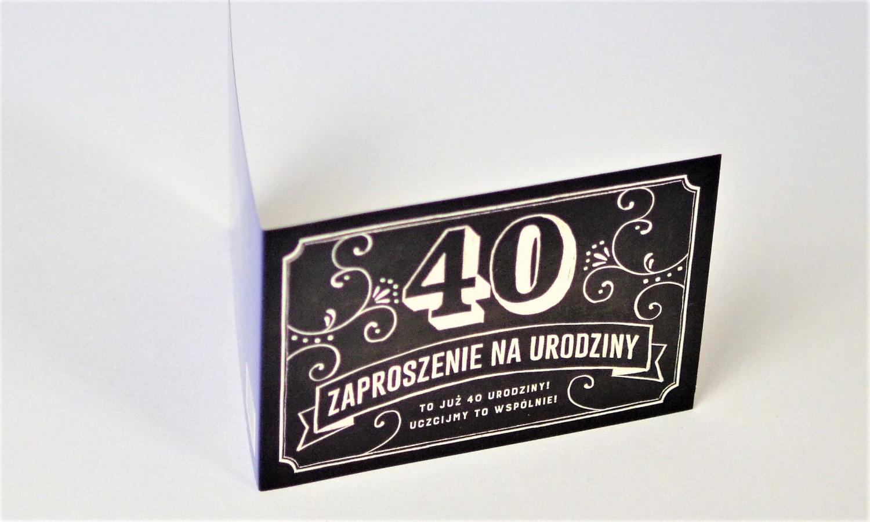 Zaproszenia na 40 urodziny w stylu Vintage / Z.C6-562