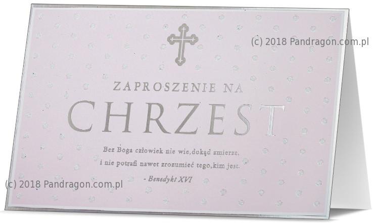 Zaproszenia na Chrzest Święty / Z.STAR-18