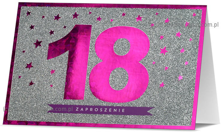 Zaproszenia Na 18 Urodziny Zaproszenia Na Osiemnastkę Proarti