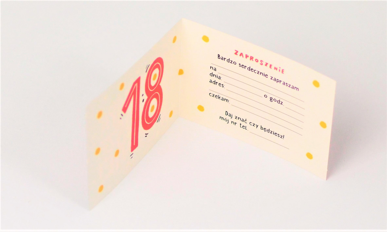 Zaproszenia na 18 urodziny / Z.C6-636
