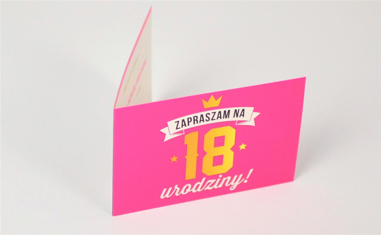 Zaproszenia na 18 urodziny / Z.C6-550