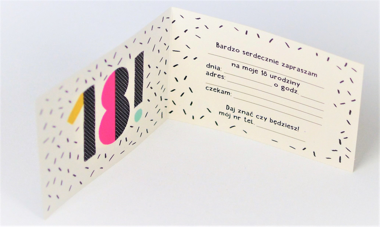 Zaproszenia na 18 urodziny / Z.C6-637