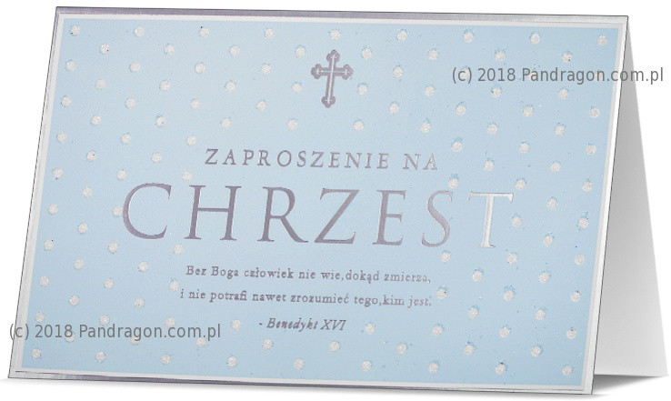 Zaproszenia na Chrzest Święty / Z.STAR-20