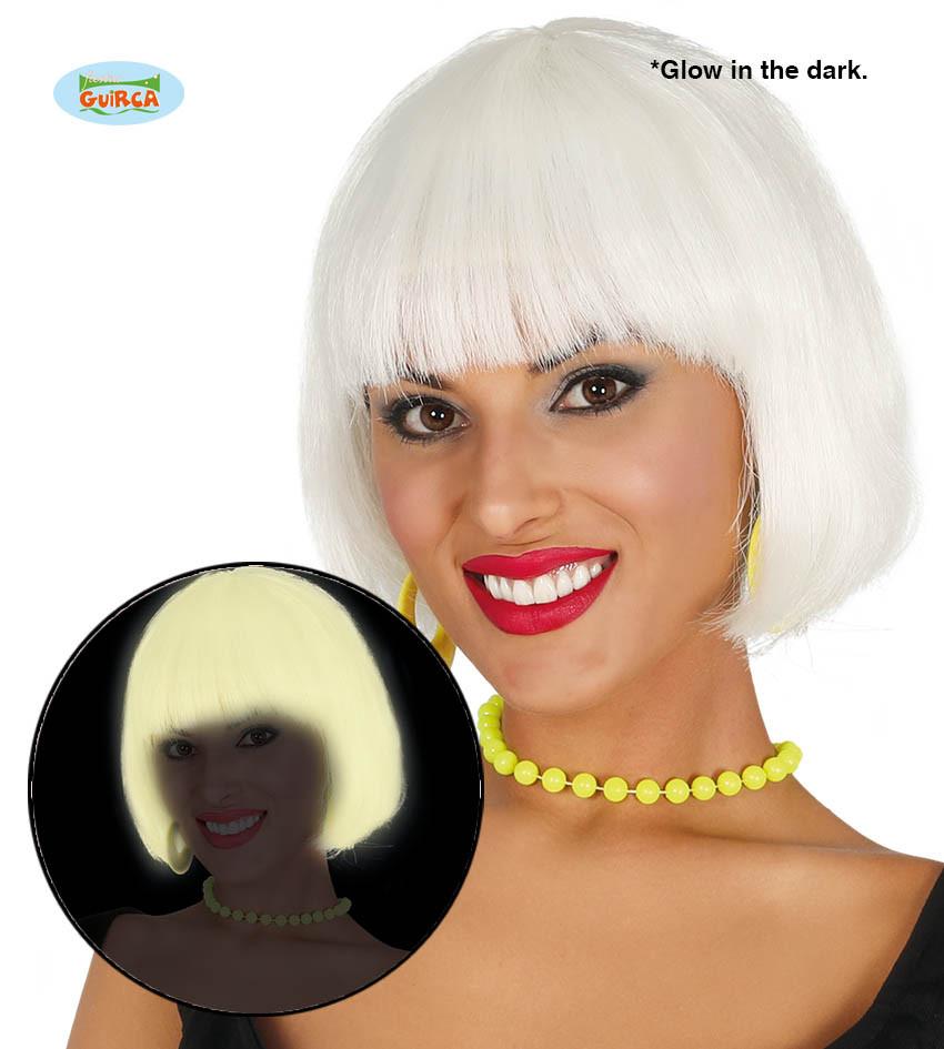 """Damska peruka """"Bob"""" świecąca w ciemności / 4036"""