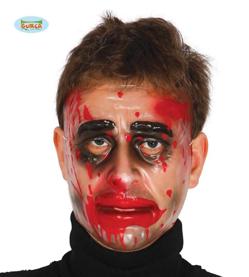 """Maska na Halloween """"Zakrwawiona twarz"""" dla mężczyzny"""