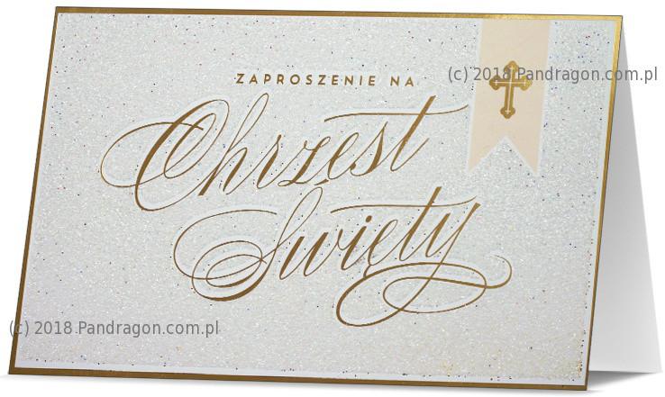 Zaproszenia na Chrzest Święty / Z.STAR-21