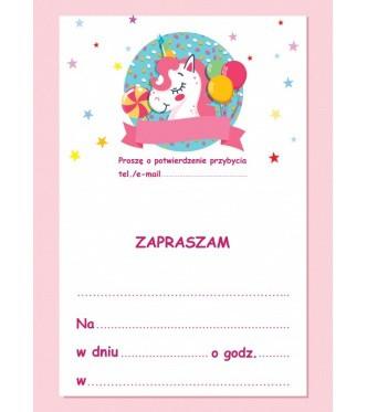 Zaproszenie Na Urodziny Jednorożec Proarti