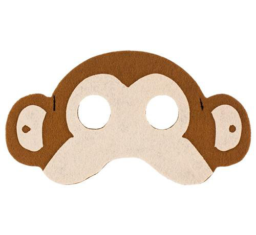 Maska Małpa / 17,5x10 cm