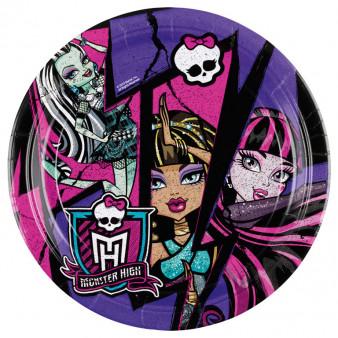"Talerzyki ""Monster High"", 23 cm"