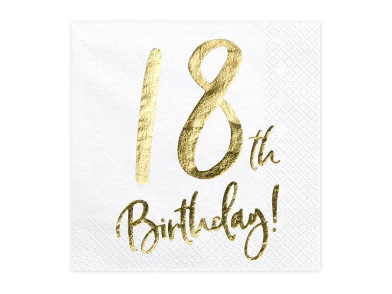 """Serwetki """"18"""" urodziny / SP33-77-18-08"""