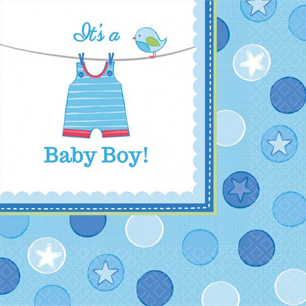 """Serwetki na Narodziny dziecka """"Baby Boy"""" / 33x33 cm"""